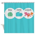 Rock Paper Scissor Shower Curtain