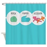 Rock Paper Scissor Shower Curtain