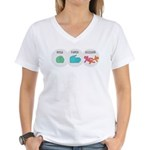 Rock Paper Scissor Women's V-Neck T-Shirt