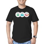 Rock Paper Scissor Men's Fitted T-Shirt (dark)