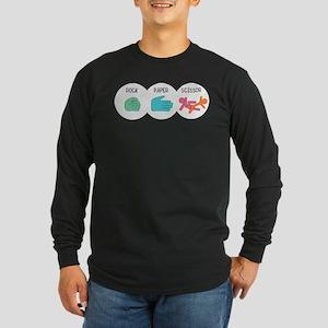 Rock Paper Scissor Long Sleeve Dark T-Shirt