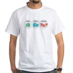 Rock Paper Scissor White T-Shirt