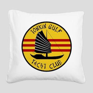 Tonkin Gulf Yacht Club Square Canvas Pillow