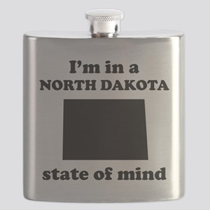 Im In A North Dakota State Of Mind Flask