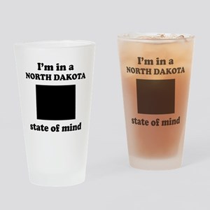 Im In A North Dakota State Of Mind Drinking Glass