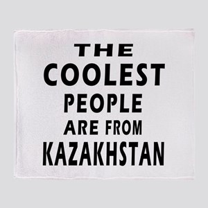 The Coolest Kazakhstan Designs Throw Blanket