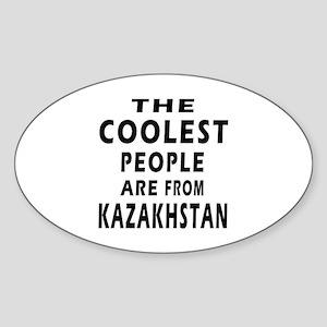 The Coolest Kazakhstan Designs Sticker (Oval)