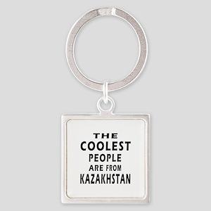 The Coolest Kazakhstan Designs Square Keychain