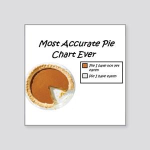 Most Accurate Pie Chart Ever Sticker