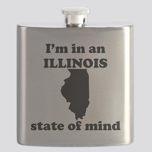 Im In An Illinois State Of Mind Flask