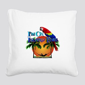 Island Time Square Canvas Pillow