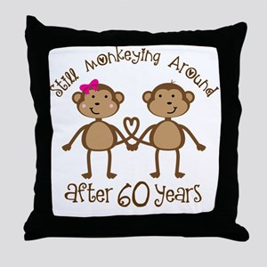 Funny 60th Anniversary Gift Throw Pillow