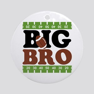 Football Big Brother Ornament (Round)