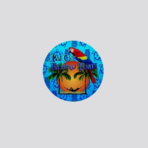 Island Time Tiki Mini Button