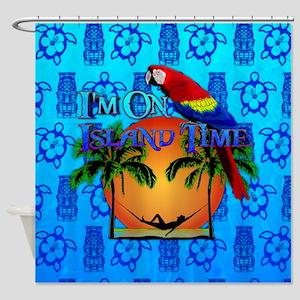 Island Time Tiki Shower Curtain