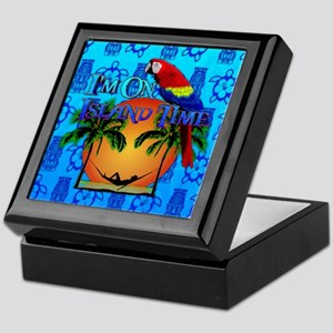 Island Time Tiki Keepsake Box
