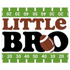 Football Little Brother Wall Art Poster