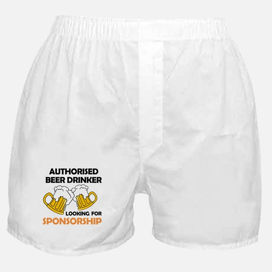 Authorised Beer Drinker Boxer Shorts
