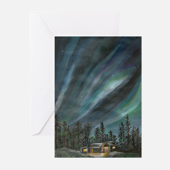 northern lights by Zoya Greeting Cards