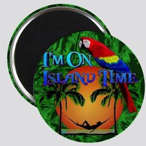 Island Time Palm Trees Magnet
