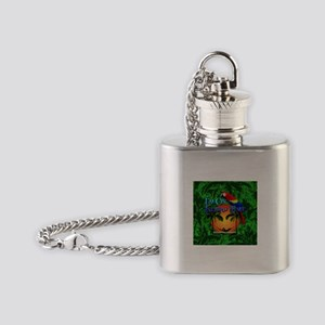 Island Time Palm Trees Flask Necklace