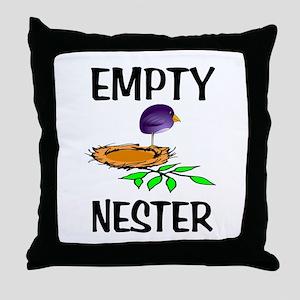EMPTY NESTER Throw Pillow