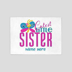 Custom Cutest Little Sister 5'x7'Area Rug