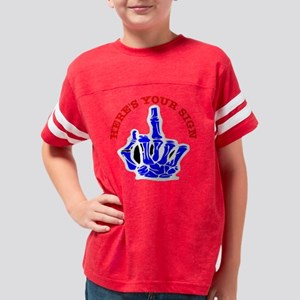 Heres_Your_Sign_Blk Youth Football Shirt