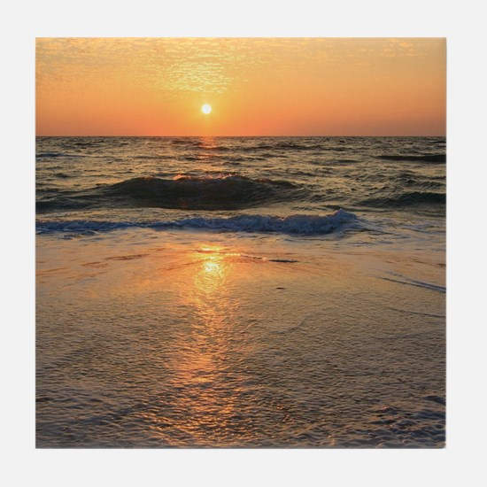 Sunset and Reflections Tile Coaster