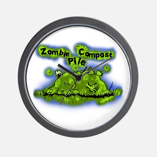 Zombie Compost Pile Wall Clock