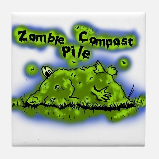 Zombie Compost Pile Tile Coaster