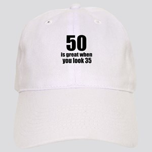 50 Is Great Birthday Designs Cap