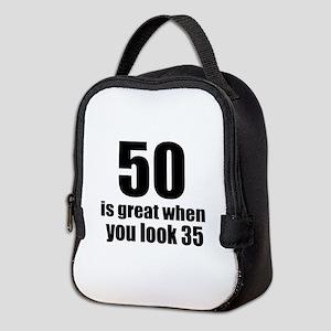 50 Is Great Birthday Designs Neoprene Lunch Bag