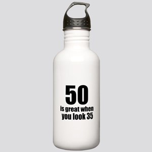 50 Is Great Birthday D Stainless Water Bottle 1.0L