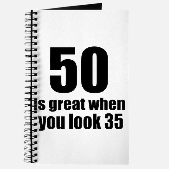 50 Is Great Birthday Designs Journal