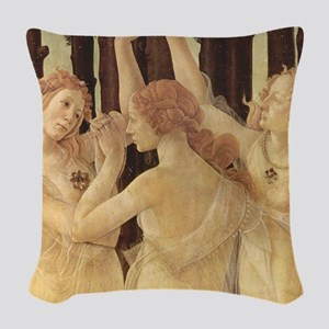 Primavera by Botticelli Woven Throw Pillow