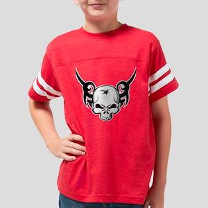 Tribal_Skull_001BLK Youth Football Shirt