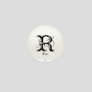 Rae: Fancy Monogram Mini Button