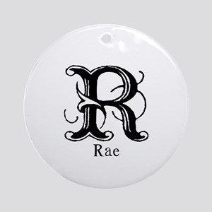 Rae: Fancy Monogram Ornament (Round)