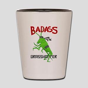 le badass grasshopper shot glass