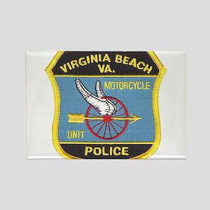 Virginia Beach PD Motors Rectangle Magnet