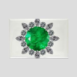 brooch-3-emerald-8-15-2013 Rectangle Magnet