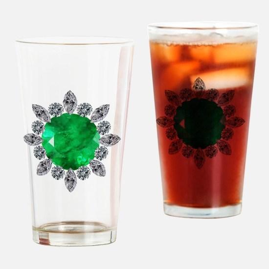 brooch-3-emerald-8-15-2013 Drinking Glass