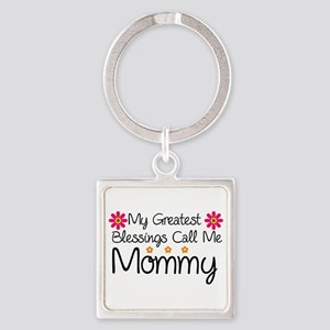 Blessings Mommy Square Keychain