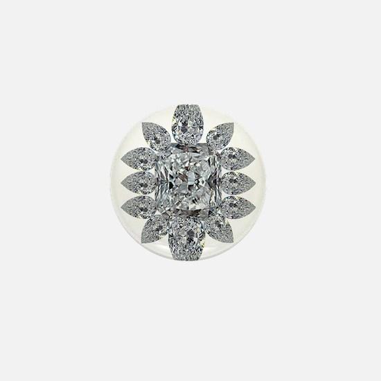 Ascher Diamond Brooch Mini Button