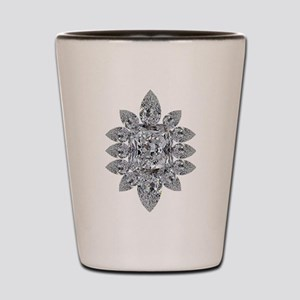Ascher Diamond Brooch Shot Glass