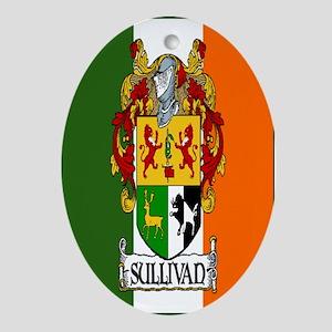 Sullivan Arms Flag Oval Ornament