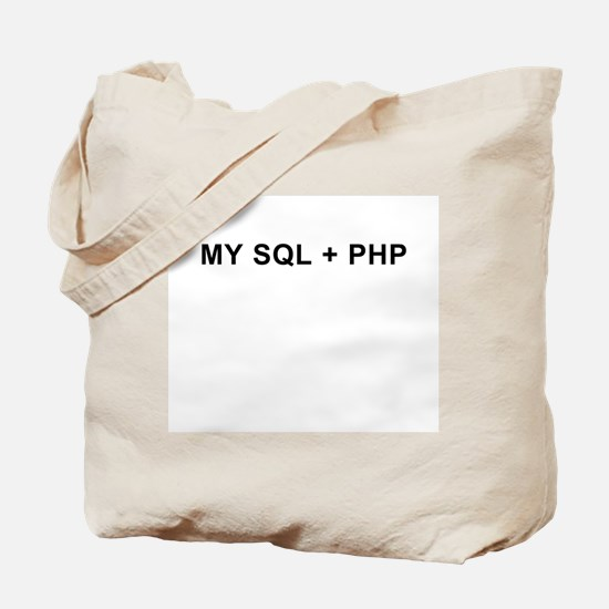 MYSQL & PHP -- T-shirts and Apparel Tote Bag
