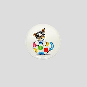 Biewer Yorkie Cup Mini Button