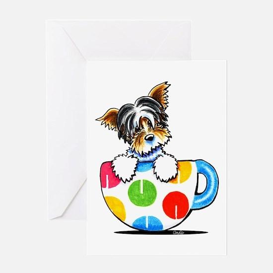 Biewer Yorkie Cup Greeting Card